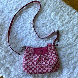 Coach Small Pink Canvas Crossbody Bag